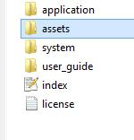install template pada codeigniter