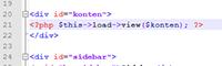 menambah code untuk menampilkan konten