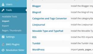 cara export import konten pada wordpress