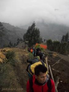 jalur pendakian patak banteng