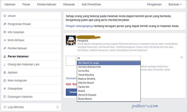 memindahkan fanpage facebook