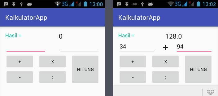 membuat kalkulator dengan android studio