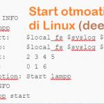 cara menjalankan xampp otomatis di linux